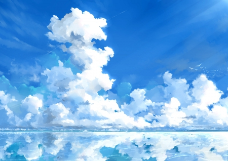 Like a dream other anime background wallpapers on - Anime sky background ...