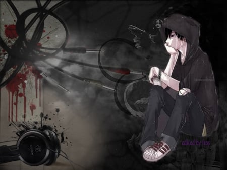 Unduh 980+ Background Emo Anime HD Paling Keren