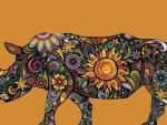 Folk Art Rhino