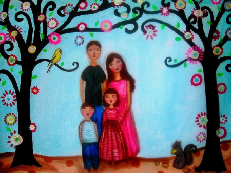 Family - Family, Painting, Parents, Children