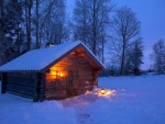 Wooden winter house