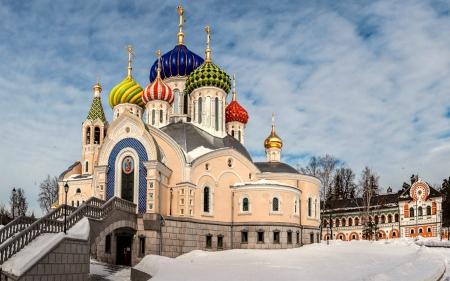 Russian Church In Winter Religious Architecture