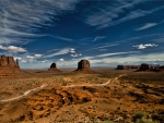 wonderful dirt road through monument valley
