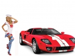 2005 2006 Ford GT and gorgeous sailor supermodel