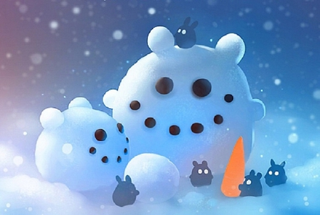 cute winter other animals background wallpapers on desktop