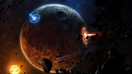 Daemon - moons, planets, galaxy, comets, asteroids, space