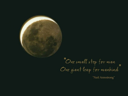 Neil Armstrong Quote - neil, quote, crescent, neil armstrong, moon, armstrong, space