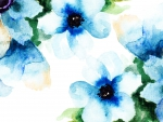 Watercolor Floral Blues