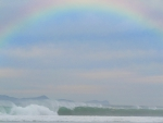 raibow over pacific