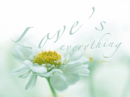 Love's everything - lovers, awareness, moments, eternal love, love, heart, spirituality, new world