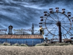 amusement park on the beach hdr