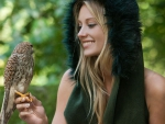 woman hawk