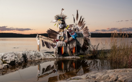 Native american dancer - aboriginal, The Freedom of Flight, dancer, Northwest Territories
