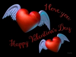 ♥ Winged Valentine Hearts ♥