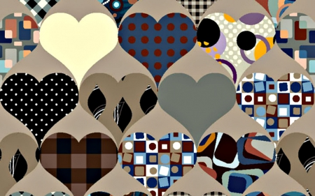 All hearts - design, hearts, abstract, art