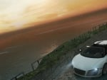 Audi R8 GT Spyder in the sunset