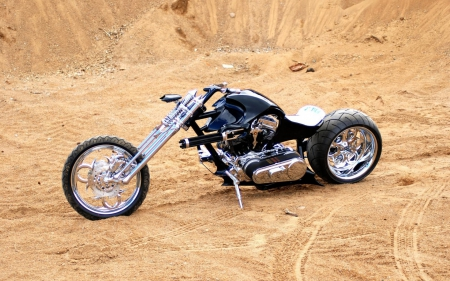 chopper - art, motorbikes, bicycle, bikes, custom, assembled, wallpaper, choppers, motorcycles, chopper