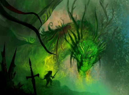 The Green Dragon Fantasy Abstract Background Wallpapers On Desktop Nexus Image 1669517