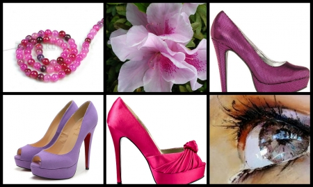 On my Mind - lavender, pink, shoes, people