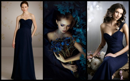 Evening gowns - models female, people, gowns, black, evening gowns