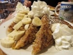 French Bread with Bananas and Whipped Cream
