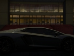 Lamborghini Aventador in the dark