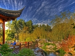 marvelous terrace in a chinese garden hdr