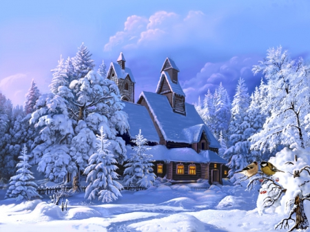 Beautiful winter day - Winter & Nature Background Wallpapers on