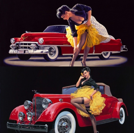 Retro Pin up - Collages & Abstract Background Wallpapers ...