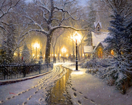 Winter Village - Other & Abstract Background Wallpapers on Desktop Nexus (Image 1671946)