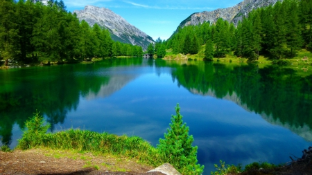 beautiful and peaceful lake - nature, water, beautiful, lake