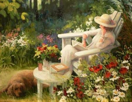 Beautiful Garden   Beauty, Art, Cool, Paintings, Gardens, Flowers, Oil