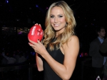 Stacy Keibler at Super Bowl 2014 go Seahawks