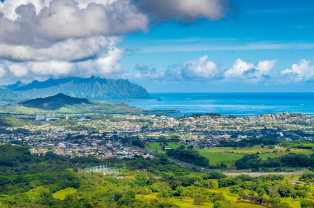Scenic View - pali, hawaii, landscape, mountians