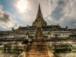 magnificent ancient oriental temple hdr