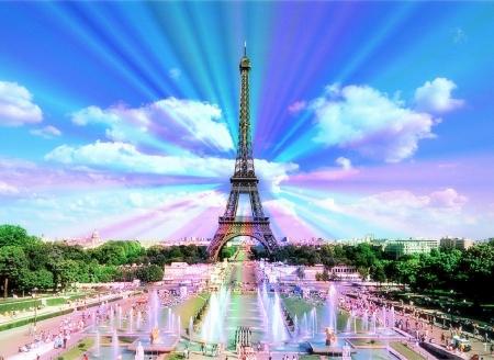 Romantic In Paris Ancient Architecture Background