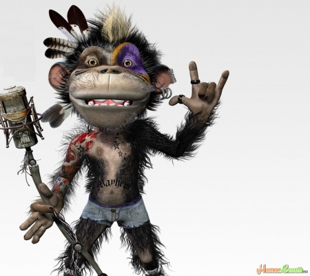 ROCKEN MONKEY - FUNNY, MONKEY, ROCK-N-ROLL, SINGER