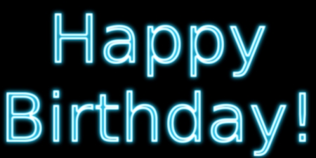 Happy Birthday - Happy Birthday, birthday, Happy Birthday to you, neon sign