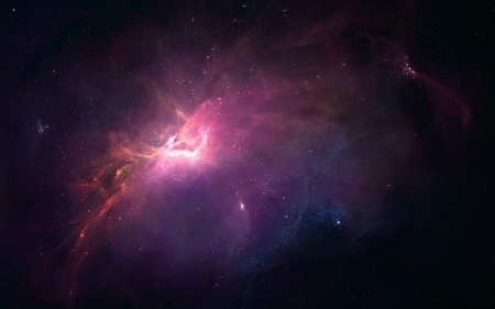 Nebula - space, black, cosmos, pink, light