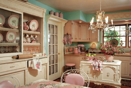 Perfect Kitchen 2560x1729 - retro, old style, kitchen, pink, shabby, vintage