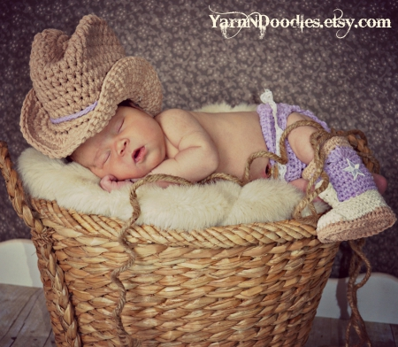 BABY COWGIRL SLEEPING - BABY, NEWBORN, COWGIRL, ADORABLE