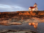 beautiful lighthouse on a seacoast