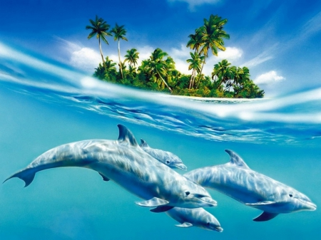 Dolphins for Cristina (cristall)
