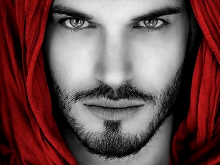 Stunning Eyes and Face - FACE, MODEL, MALE, RED
