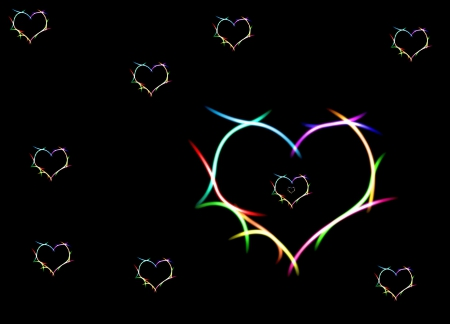 ~♥♥♥ Hearts ♥♥♥~ - bright, colorful, hearts, heart
