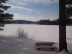 ~~; Looking out over Loon Call lake ;~~