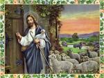 Jesus shepherd knocks the door