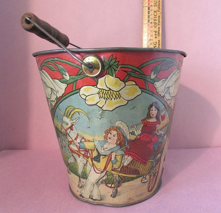 collecting vintage sand pails as a hobby - not for sale, tin, rare, hobby