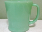 collecting jadite mug D handled