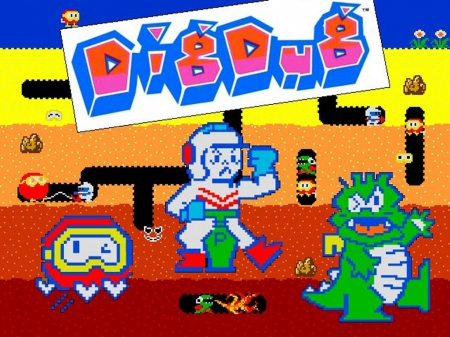 Dig Dug Classic Arcade Games Video Games Background Wallpapers